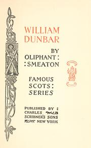 William Dunbar by William Henry Oliphant Smeaton