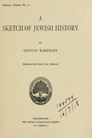 Cover of: A sketch of Jewish history