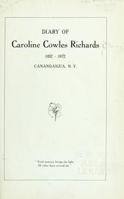 Cover of: Diary of Caroline Cowles Richards