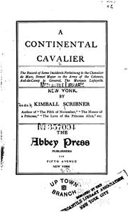 Cover of: A continental cavalier