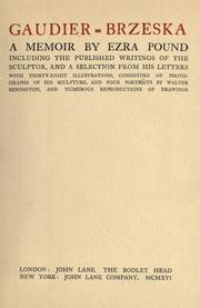 Henri gaudier brzeska 1891 1915 open library gaudier brzeska by ezra pound fandeluxe Gallery