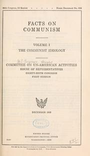 Cover of: Facts on communism