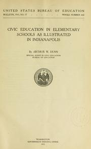 Cover of: Civic education in elementary schools as illustrated in Indianapolis