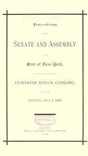 Proceedings of the Senate and Assembly of the state of New York by New York (State). Legislature.