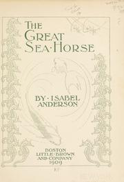 Cover of: The great sea horse | Isabel Anderson