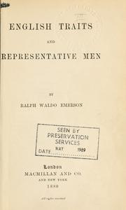 Cover of: English traits and Representative men