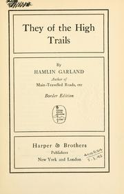 Cover of: They of the high trails