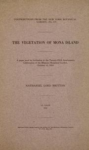 Cover of: The vegetation of Mona Island