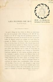 Cover of: Les ruines de Mitla