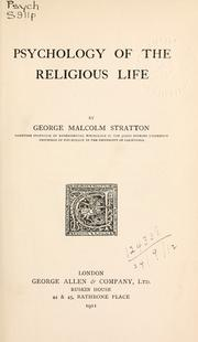 Cover of: Psychology of the religious life
