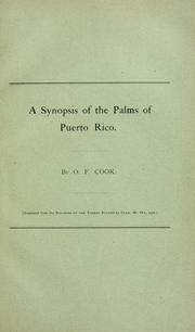 Cover of: A synopsis of the palms of Puerto Rico
