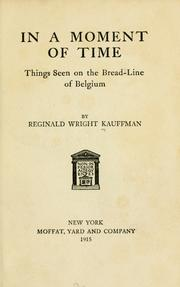 Cover of: In a moment of time