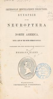 Synopsis of the neuroptera of North America by Hermann August Hagen