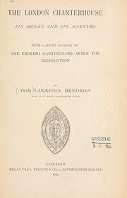 Cover of: The London Charterhouse