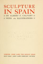 Cover of: Sculpture in Spain