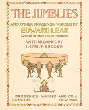 Cover of: The Jumblies, and other nonsense verses