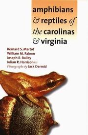 Cover of: Amphibians and Reptiles of the Carolinas and Virginia