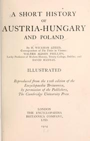 Cover of: A short history of Austria-Hungary and Poland