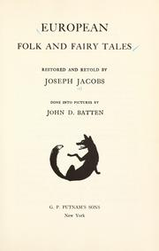 Cover of: European folk and fairy tales