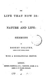 Cover of: The life that now is