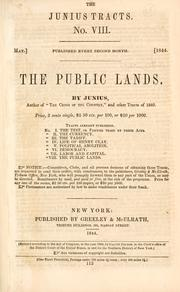 Cover of: The public lands