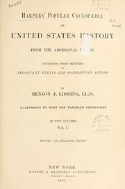 Cover of: Harpers' popular cyclopaedia of United States history from the aboriginal period