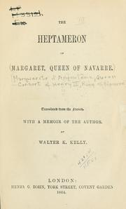 Cover of: The Heptameron of Margaret, queen of Navarre