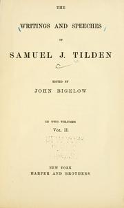 Cover of: The writings and speeches