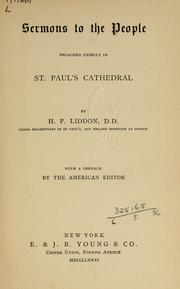 Cover of: Sermons to the people: preached chiefly in St. Paul's Cathedral