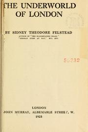 Cover of: The underworld of London