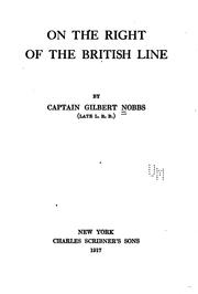 Cover of: On the right of the British line by Gilbert Nobbs