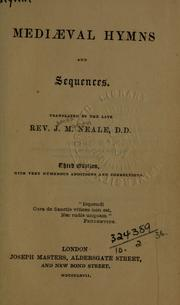 Cover of: Mediaeval hymns and sequences, translated