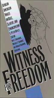 Cover of: Witness for Freedom |