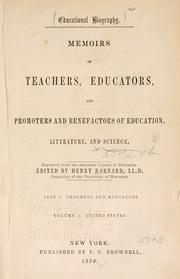 Cover of: Educational biography. | Henry Barnard