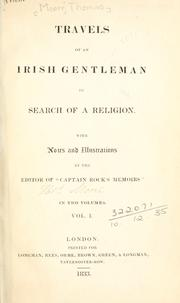 Cover of: Travels of an Irish gentleman in search of a religion: with notes and illustrations