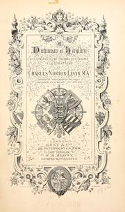 Cover of: A dictionary of heraldry | Charles Norton Elvin
