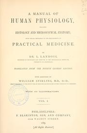 Cover of: A manual of human physiology