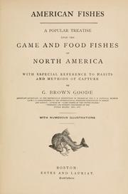 Cover of: American fishes