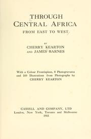 Cover of: Through Central Africa, from east to west