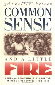 Cover of: Common sense & a little fire