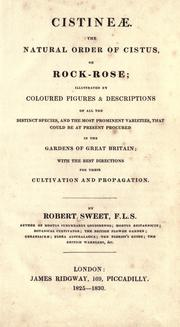 Cover of: Cistinae | Robert Sweet