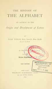 Cover of: The History of the Alphabet