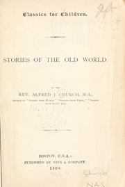 Cover of: Stories of the old world