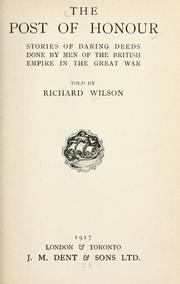 Cover of: The post of honour