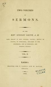 Cover of: Two volumes of sermons