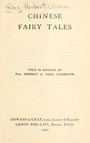Cover of: Chinese fairy tales
