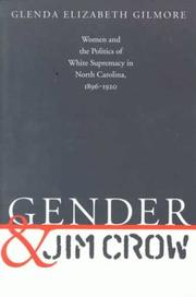 Cover of: Gender and Jim Crow