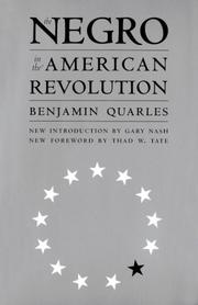 Cover of: The Negro in the American Revolution