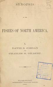 Cover of: Synopsis of the fishes of North America