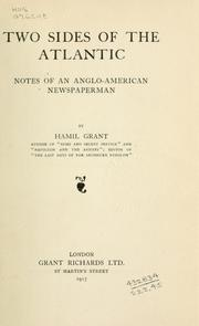 Cover of: Two sides of the Atlantic, notes of an Anglo-American newspaperman